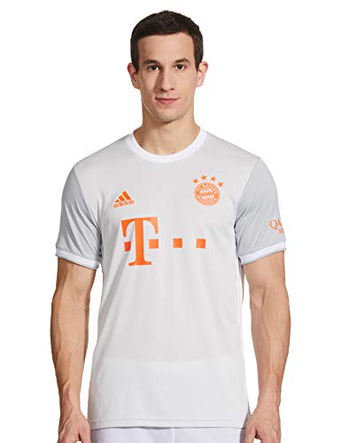 adidas Herren 20/21 FC Bayern Away Jersey Trikot, Dshgry/White, XL