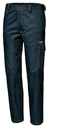 Sir Safety System MC1111Q758 - Pantaloni da Lavoro Symb, 100% Cotone Massaua, Taglia 58, Colore: Blu