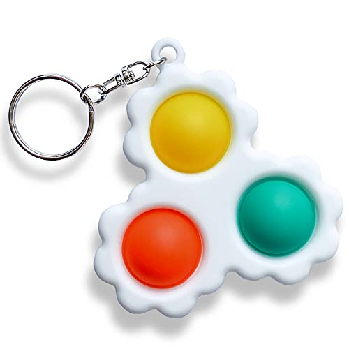 Push Pop Bubble Keychain Sensory Therapy Toys for Home Classroom Party Favors Office Mini Simple Dimple Sensory Fidget Toy Stress Relief Anti-Anxiety Autism Hand Toys for Kids Teen Adult