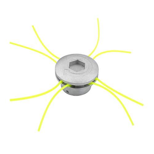 XIAOFANG Fangxia Store Jefes Cabezal de Corte de Aluminio Universal Strimmer Cabezal de Corte de Hierba desbrozadora Segadora de Accesorios con el Trimmer Line (Color : Silver)