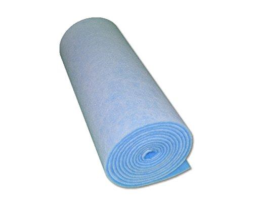 Filterrolle Blau Weiß,Filterklasse G4,Abmessung 0,6 x 4m,Filtermatte,Filterflies