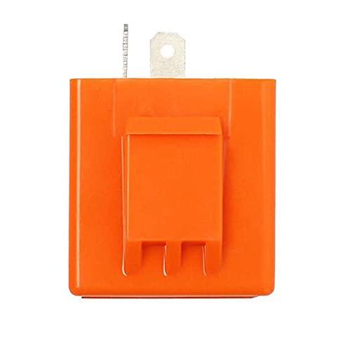 Flasher Relay 2-Pin DC 12V LED de señal de Vuelta de la Moto Indicador Naranja Controlador de Velocidad