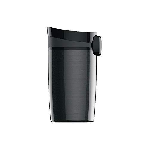 SIGG Miracle Black Thermobecher (0.27 L), schadstofffreier und isolierter Kaffeebecher, auslaufsicherer Coffee to go Becher aus Edelstahl