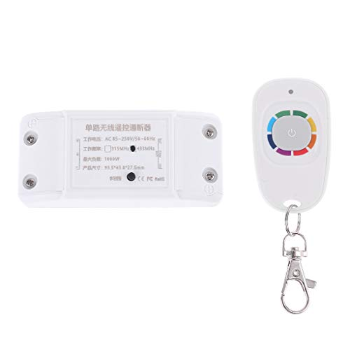 Yoging 85V-250V inalámbrico, mando a distancia, alta potencia, código de aprendizaje, canal único, controlador de interruptor de iluminación