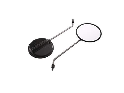 Blewa 1Paar Rückblickspiegel ø 120 mm, Gewinde M8, Spiegelarm Edelstahl