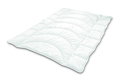 Dunlopillo ActiSoft® Steppbett Bettdecke 155x220 cm | Faserbettdecke mit individueller Körper-Steppung und Mikrofaser, - Oberbett, für Alergiker geeignet