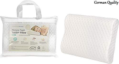 HelpAccess Kinderkissen aus Memory Schaumstoff ergonomisch und hautfreundlich mit einem herausnehmbaren und waschbaren Kissenbezug.