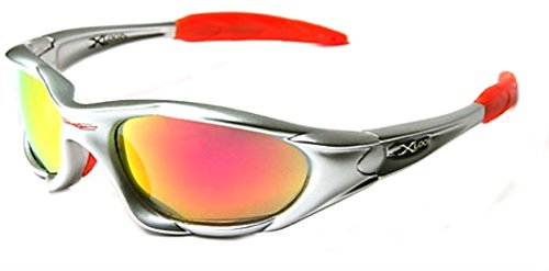 X-Loop Arancione High Profile Runners Ciclismo Occhiali da Sole 2 Nero Argento w/Arancione