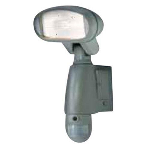 Camtronics PIR Buho 10. Lámpara de iluminación Exterior con luz halógena de 120 W, con Sensor de Movimiento y DVR en Tarjeta SD (2 GB incluida) con cámara incorporada