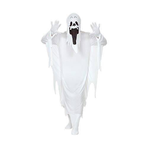 taianle Disfraz de Fantasma de Halloween para Niños Talla Única Disfraces de Fiesta de Halloween Halloween Espeluznante Truco O Trato Blanco