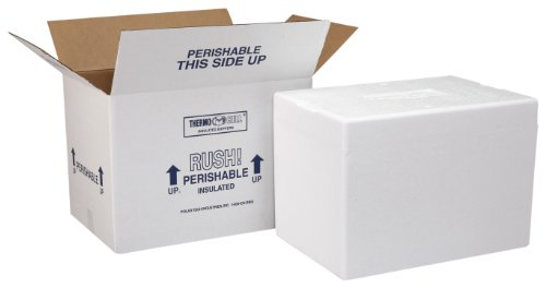 Polar Tech 227C Thermo Chill Insulated Carton with Foam Shipper, Medium, 12' Length x 10' Width x 7' Depth (Case of 2)