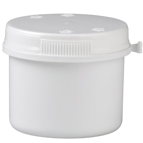 Packland Gmbh 50x Kunststoffdose 135ml mit Press-on Verschluss aus weissem PP