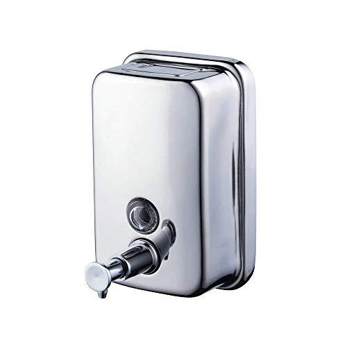 Beelee Chrome Finish doppio sapone - Shampoo - Dispenser gel, acciaio inossidabile 304, 800 ml