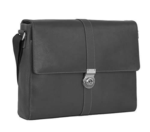 Leonhard Heyden Bergamo Messenger Bag L Black