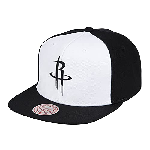 Mitchell & Ness NBA Front Post Houston Rockets - Gorra, color blanco y negro