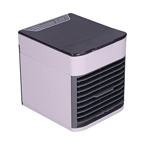 Ventilador de enfriamiento del Enfriador de Aire, Enfriador de Aire Mini Ventilador de Aire Acondicionado Purificador de humidificador Alimentado por USB para el hogar de la Oficina del automóvil