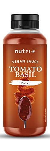 Tomatensauce mit Basilikum light ohne Zucker - Tomato Basil - nur 2 Kalorien pro Portion - Nudelsauce Zero vegan - Zuckerarm & kalorienarm - Ideal als Tomatensoße zu Nudeln