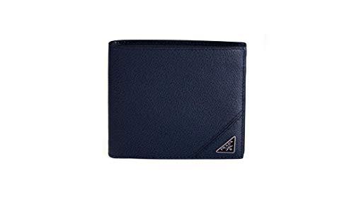 Prada Herren-Portemonnaie aus Kalbsleder, zweifach gefaltet, Baltico (blau)