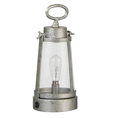 Paris Prix - Lanterne en Métal à LED Cali 27cm Argent