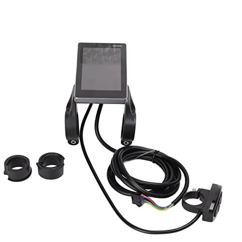 LCD-Display für Elektrofahrrad, Elektrofahrrad-Display wasserdicht für 22,2 mm / 0,9 Zoll-Lenker für Elektrofahrräder, Roller und andere Fahrzeuge