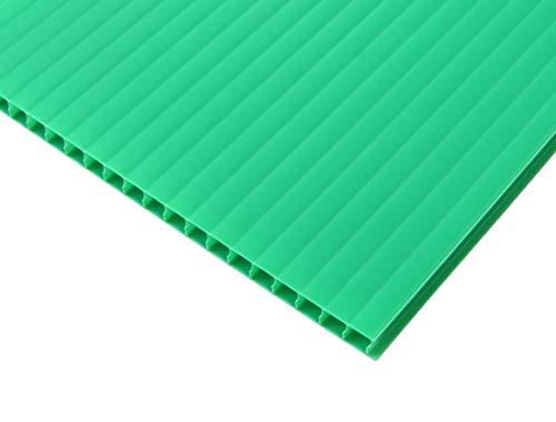 【国産5枚入】プラダンシート 巾900mm ×長1200mm 厚5mm 5枚セット (緑)