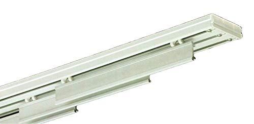 Rieles de Aluminio Profesional para Panel japonés manuales 3 vías Ancho 160 cm-3 carriles de Rodadura con velcron de 59 cm