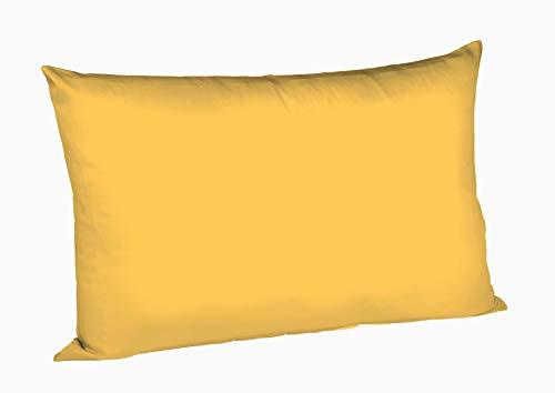 Fleuresse, Colours 9100349, Federa per cuscino in raso di cotone makò, Giallo (goldgelb), 50 x 80 cm