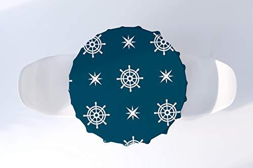 Bonamaison Decoración de Cocina, Mantel Redondo, Mantel de Mesa, Mantel, decoración de Mesa, diámetro de 140 cm. Diseñado y Fabricado en Turquía.
