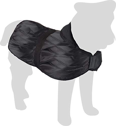 Karlie Hundemantel Eisbär L: 80 cm schwarz 2 Bauchgurte