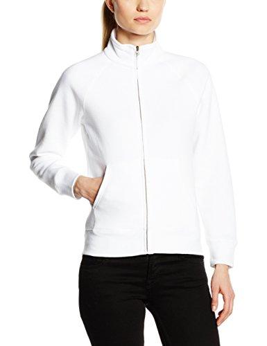Fruit of the Loom SS091M, Sweat shirt à capuche Femme, Blanc-Blanc, ,40(Medium)