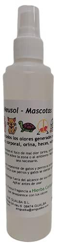 Neusol Mascotas 250ml Quita Olor de Perros y Gatos. Elimina orina y marcaje. Actúa como Repelente/ahuyentador, los espanta. Efectivo y económico