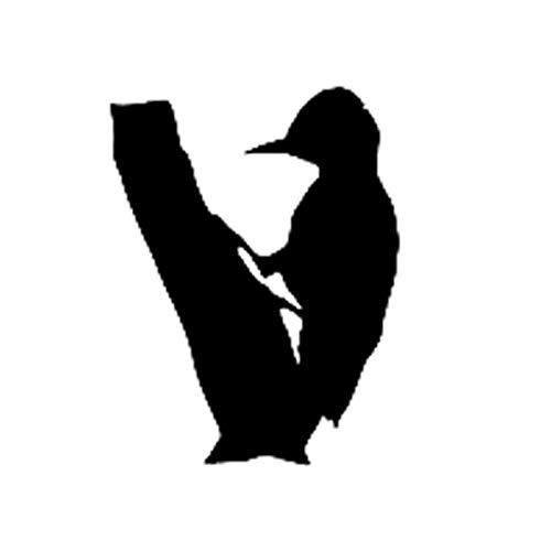 Leeg 11.8CM*15.3CM Cartoon leuk vogel specht Flicker tak auto Sticker Vinyl Decal Zwart