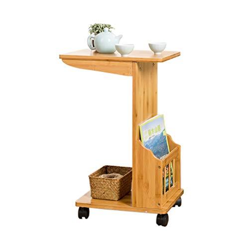 Tables basses Chariot à thé Meuble latéral pour canapé Amovible Petite Chevet étagère à thé (Color : Brown, Size : 35 * 27 * 58cm)