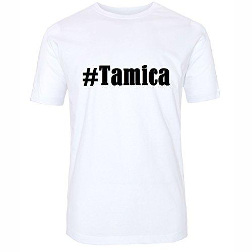 Reifen-Markt Camiseta #Tamica Hashtag para Mujer y Hombre en Blanco y Negro