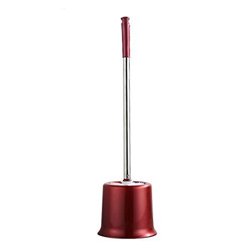 NYKK Escobilla WC Cepillo de Limpieza de inodoros Cepillo de Acero Inoxidable Mango Largo Cepillo de Inodoro Limpieza de Inodoro Cepillo de Limpieza Todo Escobillas de Baño (Color : A)