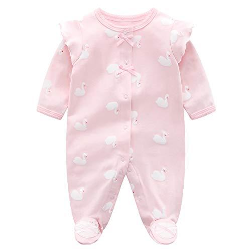 Bebé Niñas Mameluco Footies Mono Manga Larga Bodys Algodón Pijamas Pelele 0-3 Meses