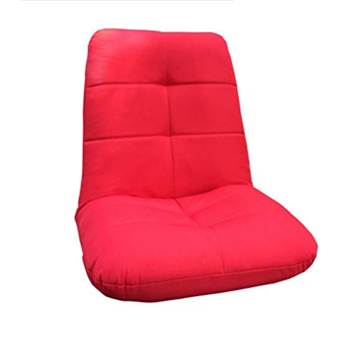 JJZXD Respaldo Alto Silla Sala de Juego, Material de Lino Lazy Sofá Sofá Cama, Suavemente Acolchado, fácilmente Plegable for Adolescentes Adultos (Color : Red)