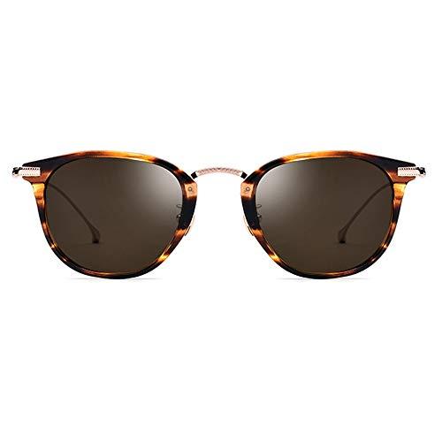 XiaoDong1 Ultraligero Nuevo B Titanio Masculino Polarizado Gafas De Sol Mujer Leopardo Marco Teat Lens UV400 Protección