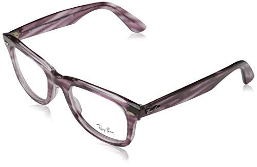 Ray-Ban Wayfarer Ease Gafas, STRIPED BORDEAUX HAVANA, 50 Unisex