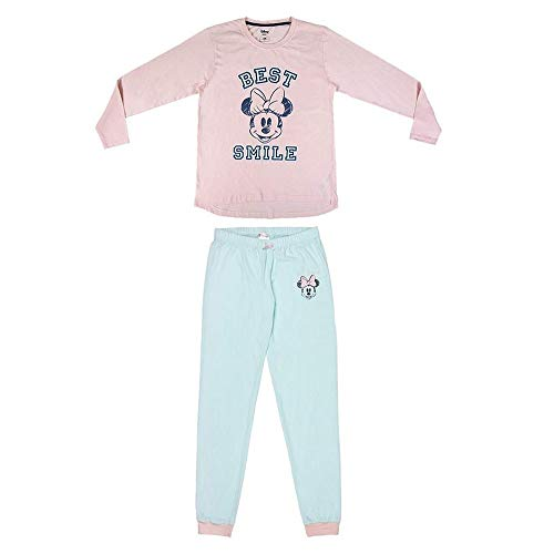 CERDÁ LIFE'S LITTLE MOMENTS Mujer Pijama Minnie-Licencia Oficial Disney, Rosa, 2S