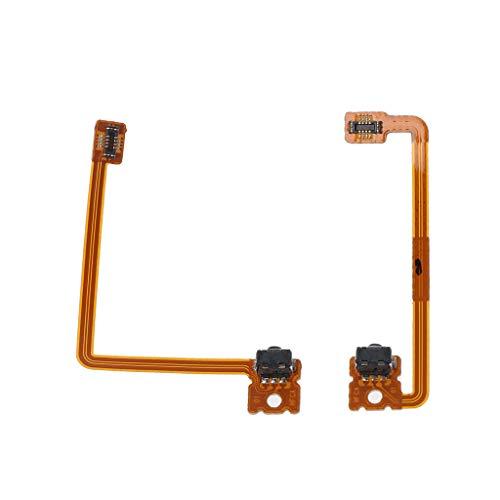 Qintaiourty 2Pcs / Set Reemplazar reparación L / R Shoulder Trigger Button Flex Cable para Nintendo 3DS XL LL R L Switch