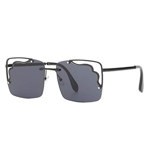 Gafas hueces Personalidad europea y americana Plaza de gafas de sol Fashion Street Tiroteo Océano Color Gafas de sol Femenino Viaje al aire libre Sombrilla (Color : D)