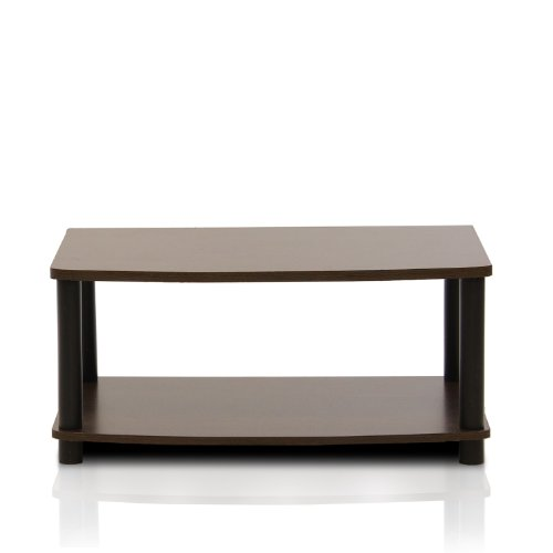 Price comparison product image FURINNO Turn-N-Tube No Tools 2-Tier Elevated TV Stand