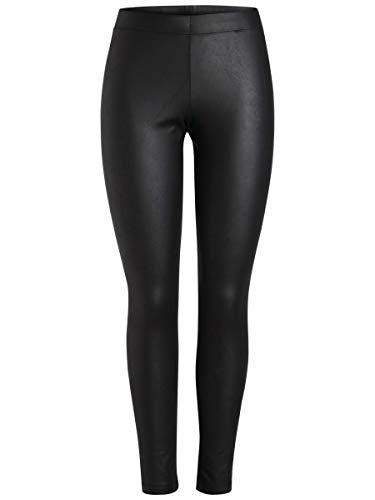 PIECES Damen PCNEW Shiny Fleece NOOS Legging, Schwarz (Black), 38 (Herstellergröße: M/L)
