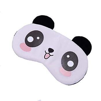 Fxaelian Cartoon Animal Panda Eye Mask for Sleeping Panda Eye Mask Kids Night Travel Women Adult Girls Boys Men Panda