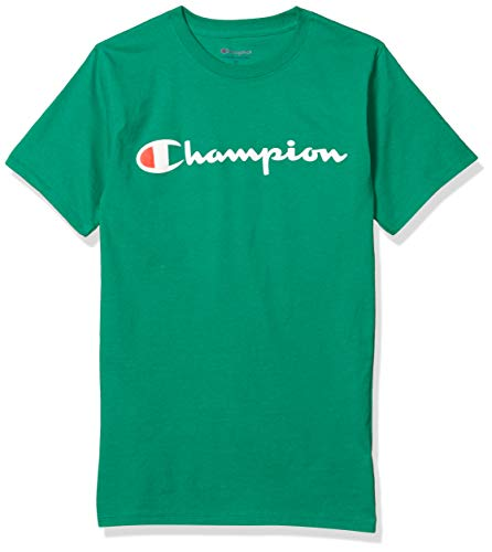 Champion unisex adult Champion Mens Classic Jersey Graphic Tee Kelly Green Md T Shirt, Kelly Green, Medium US