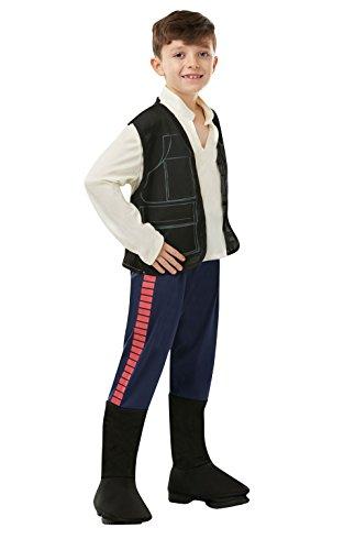 Star Wars - Disfraz de Han Solo para niño, infantil 7-8 años (Rubie's 883160-L)