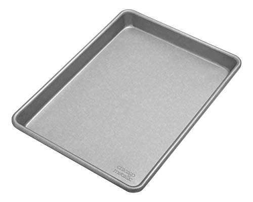 Chicago Metallic Commercial II Traditional Uncoated Small Jelly Roll Pan, 12-1/4 by 8-3/4-Inch