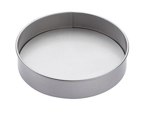 KitchenCraft KC2BK15 Non Stick Cake Tin with Loose Base, Round, Steel, 20.5 cm, Silver