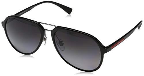 Prada Sport Herren 0PS 05RS Sonnenbrille, Schwarz (Black), 57